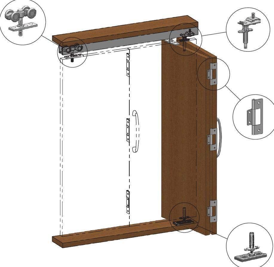 Дверь гармошка для шкафа своими руками