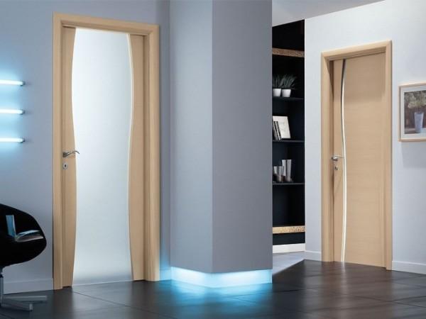Комбинированная дверь с элементами МДФ