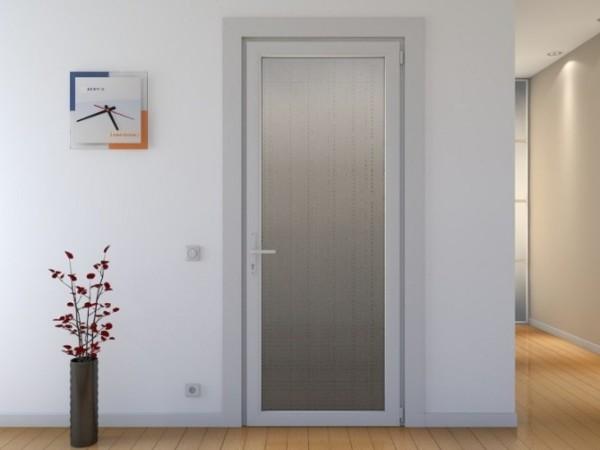 Универсальная пластиковая дверь для санузла