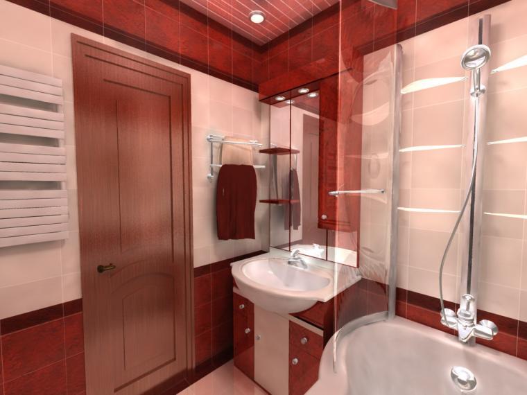 шпонировання дверь для ванной комнаты