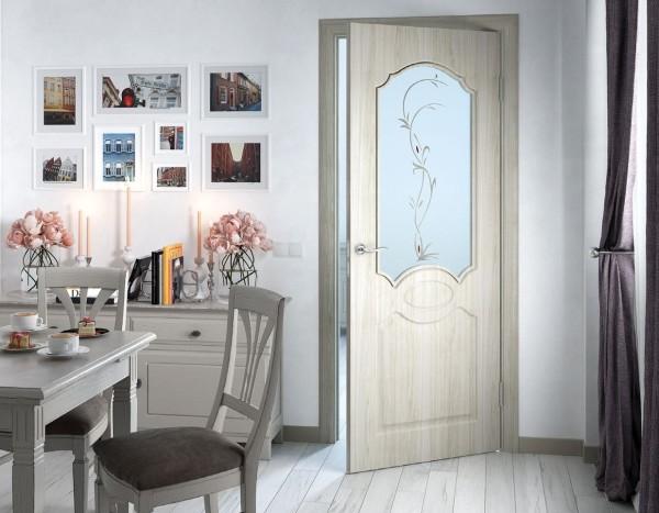 Экошпонированные двери в интерьере
