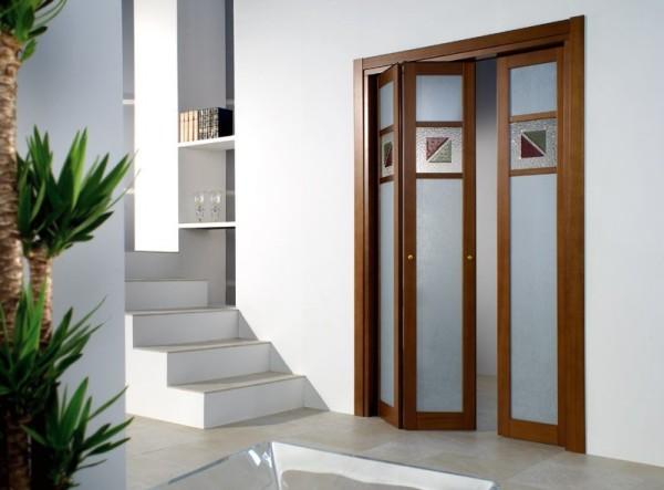 Дверь-гармошка в интерьере
