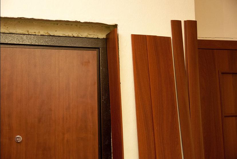 Доборы на входные двери установка своими руками