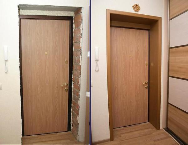 Монтаж доборов входных дверей не вызывает затруднений