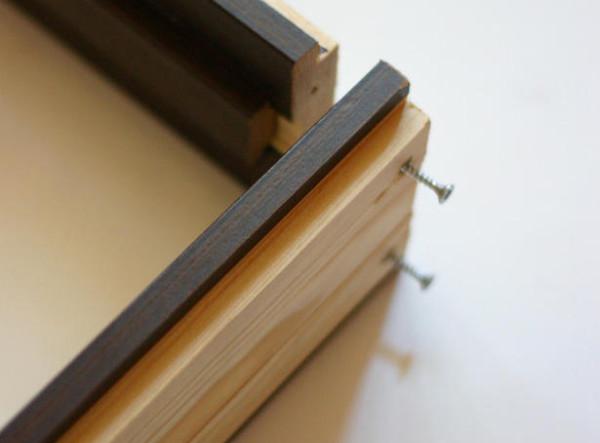 Сборка дверной коробки при помощи саморезов