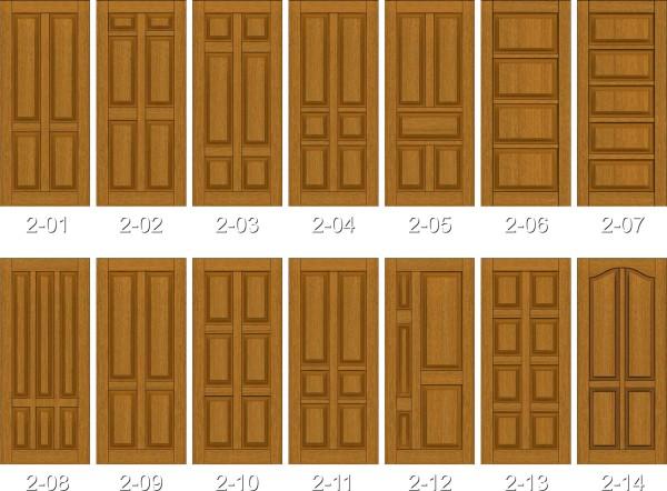Варианты оформления филенчатых дверей
