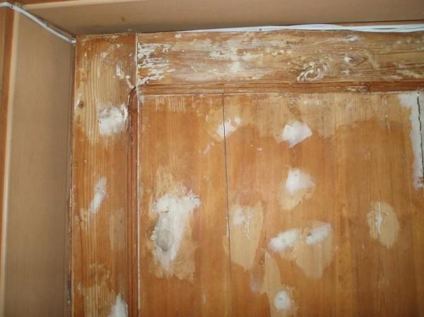 Шпаклевка деревянной двери