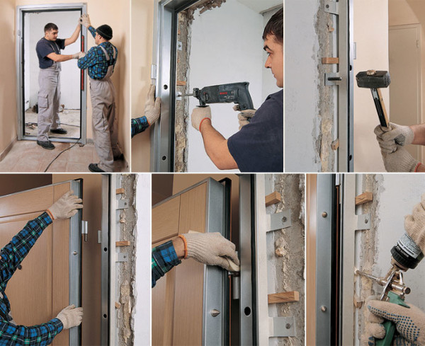 Монтаж дверной коробки и входной двери