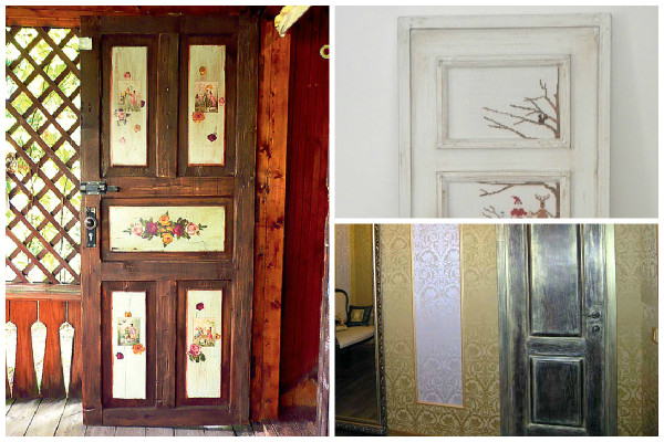Декор дверей своими руками: как украсить старую дверь