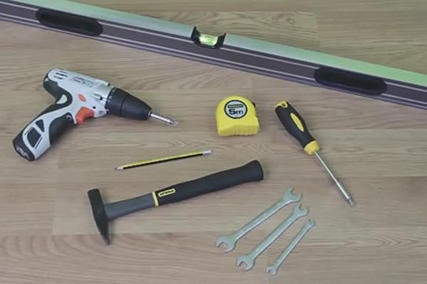 Набор инструментов для установки раздвижной двери
