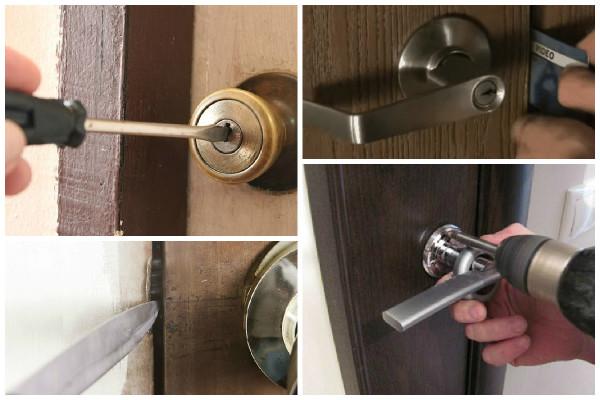 Взлом замка межкомнатной двери