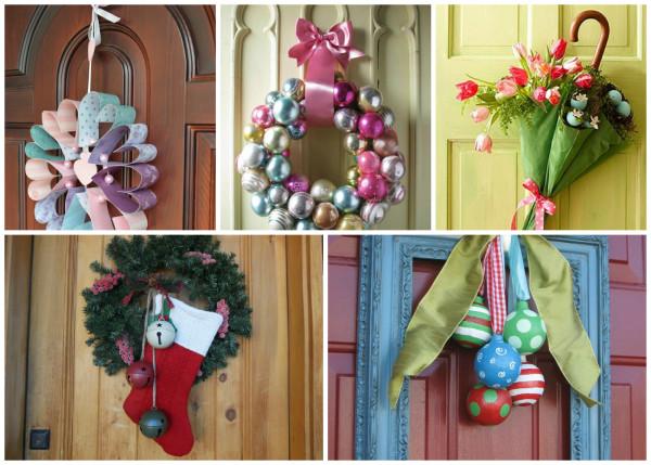Праздничный декор двери