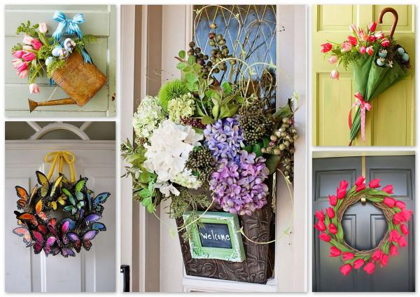 Сезонные украшения на дверь