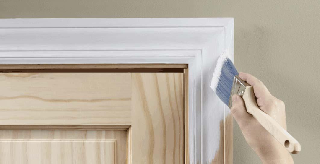 Покрасить шпонированную дверь своими руками