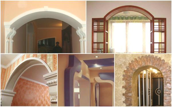 Декоративная отделка арочных конструкций