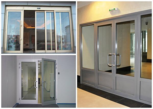 Разновидности алюминиевых дверей
