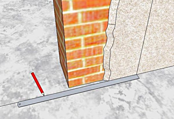 Уменьшения дверного проема с помощью кирпича