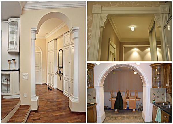 Декорирование арки лепниной