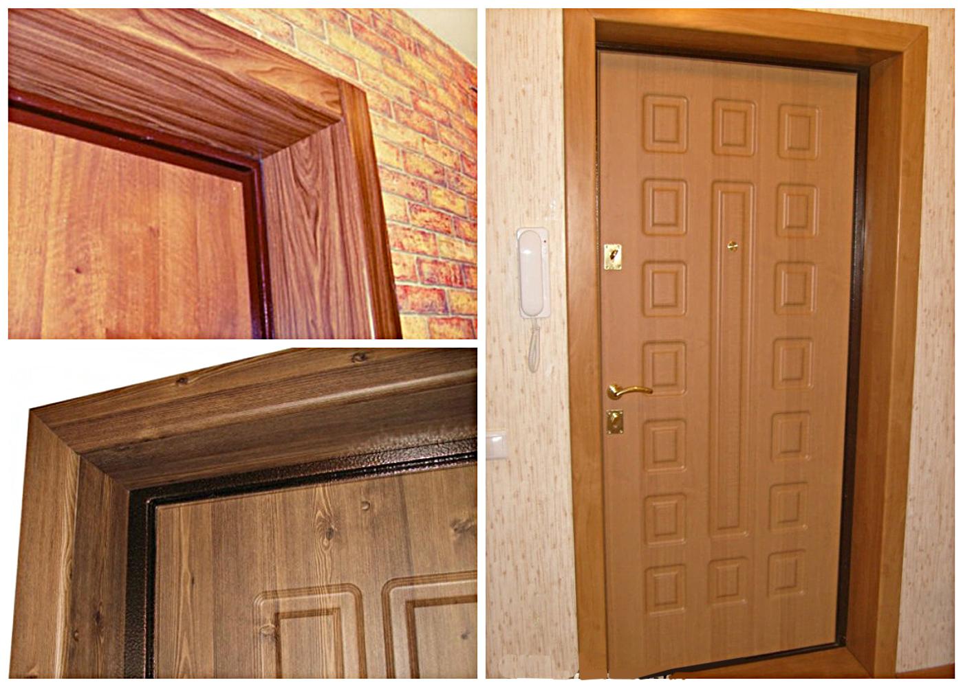 облицовка входных металических дверей из мдф