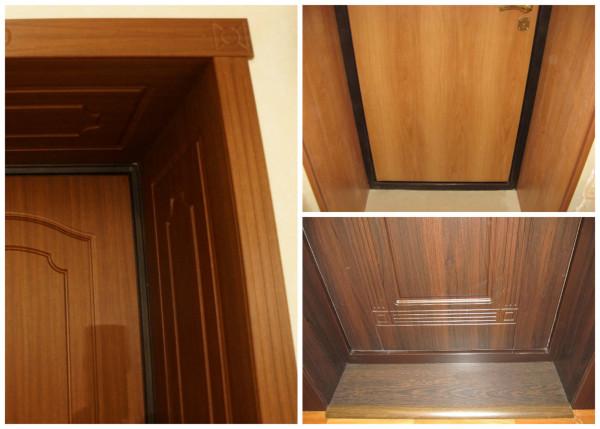 Оформление дверного проема МДФ-накладками