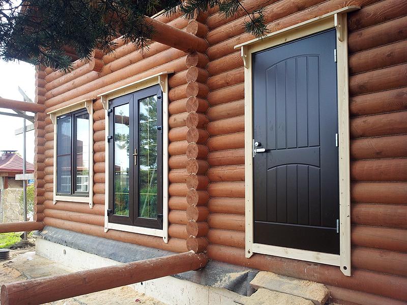 Как установить металлическую дверь в деревянном доме 61