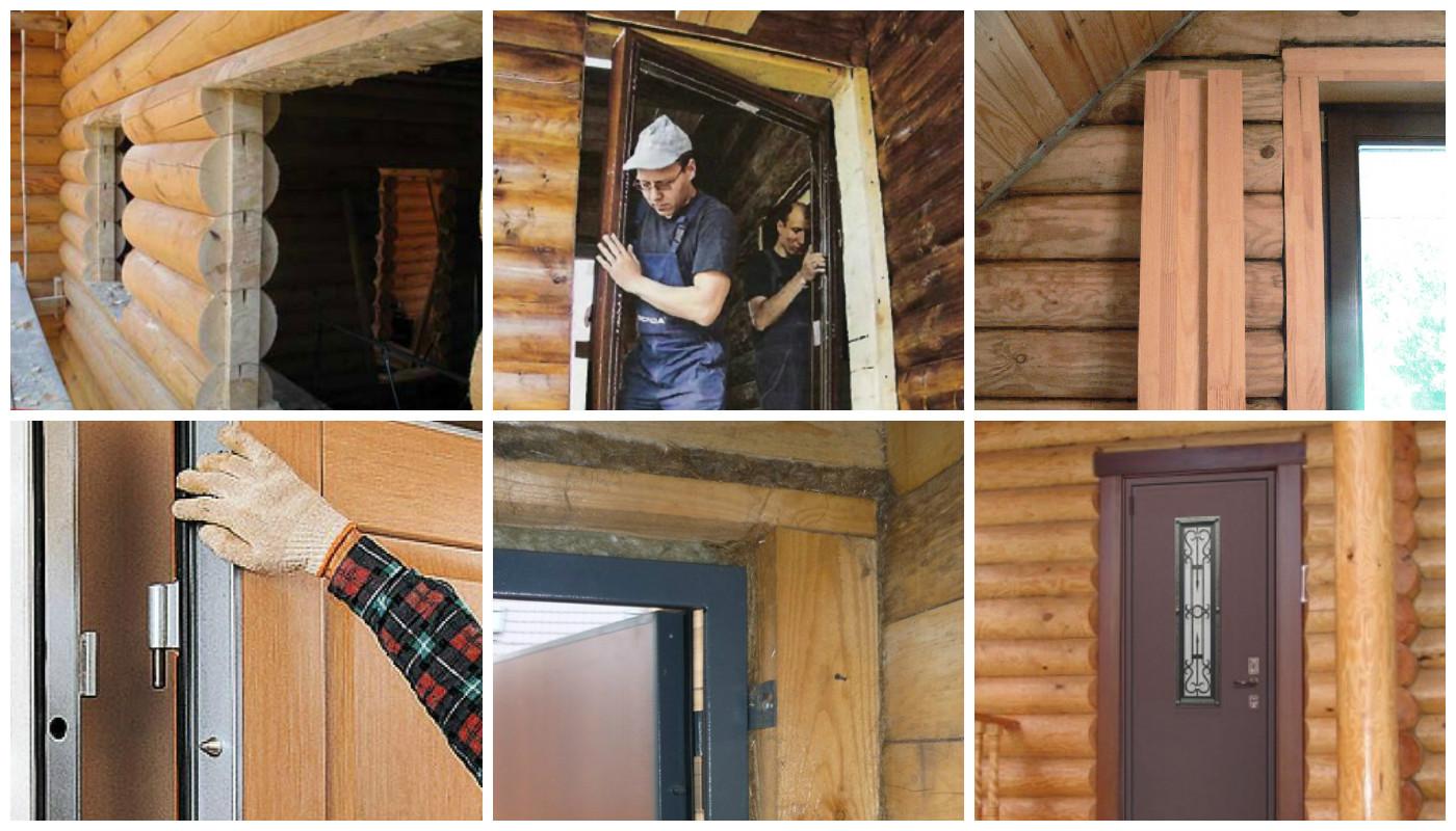Как поставить деревянную дверь