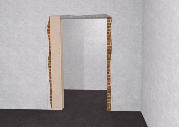 Уменьшение дверного проема