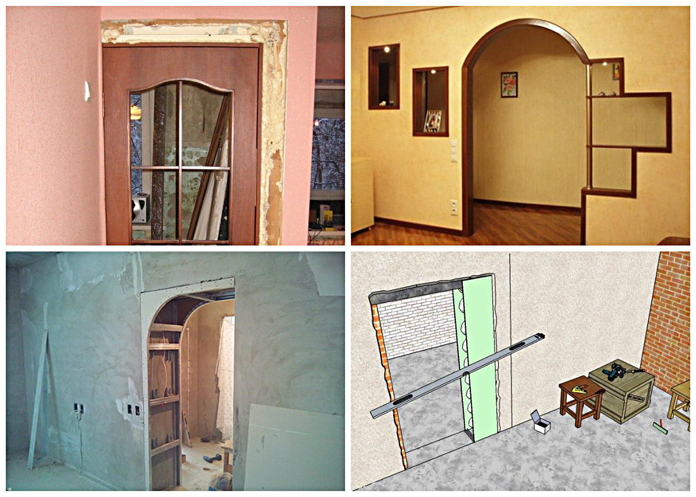 Как сделать дверные проемы без дверей
