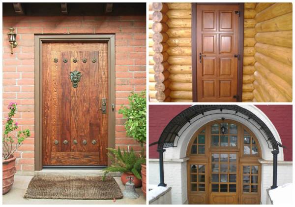 Разновидности конструкций деревянных входных дверей