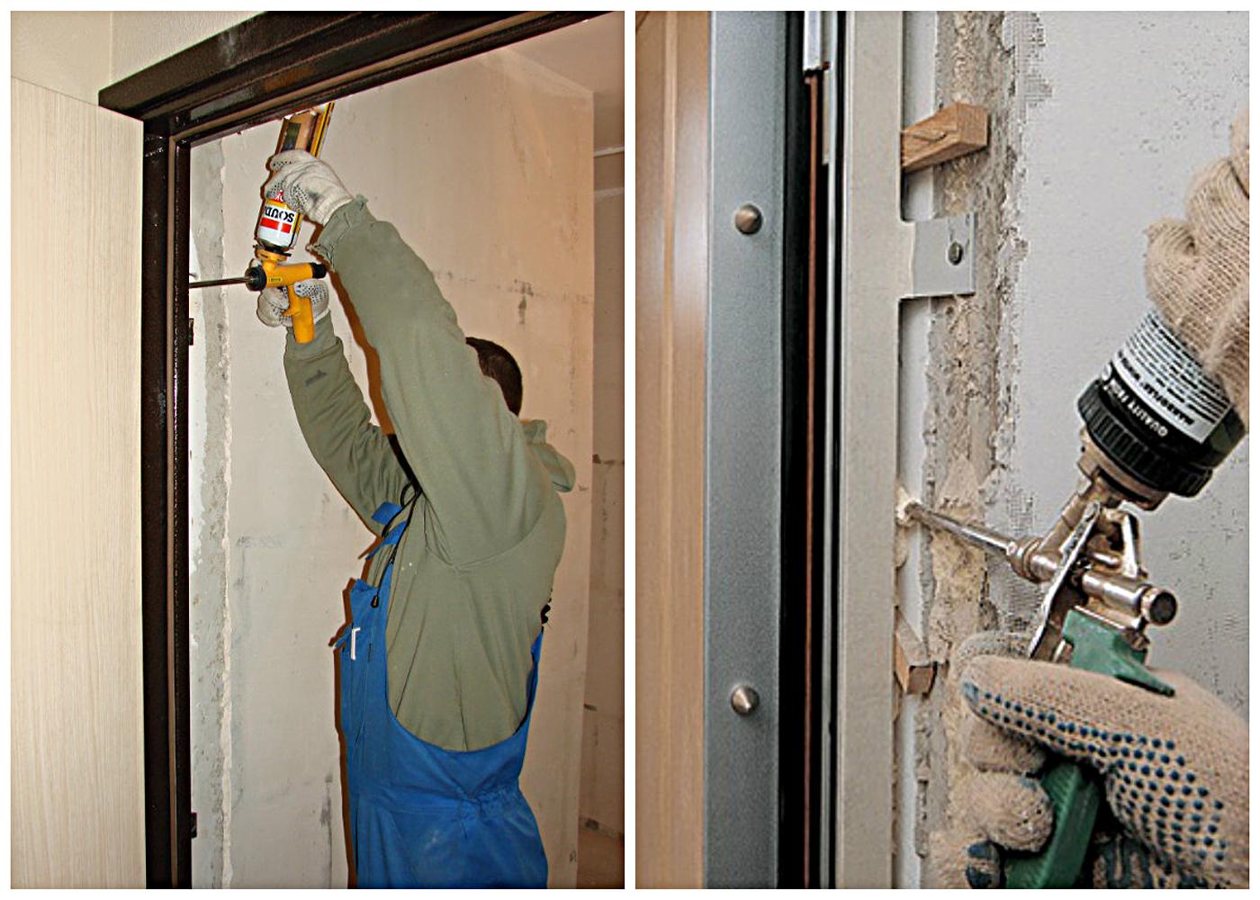 Установка входных металлических дверей своими руками