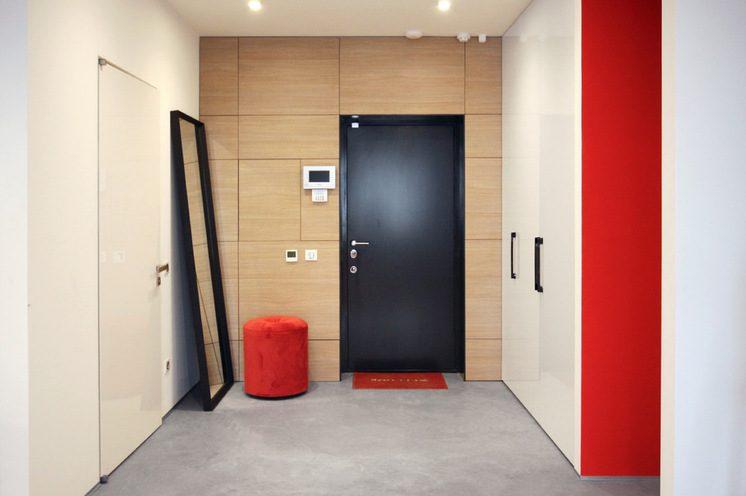 современный дизайн входных металлических дверей