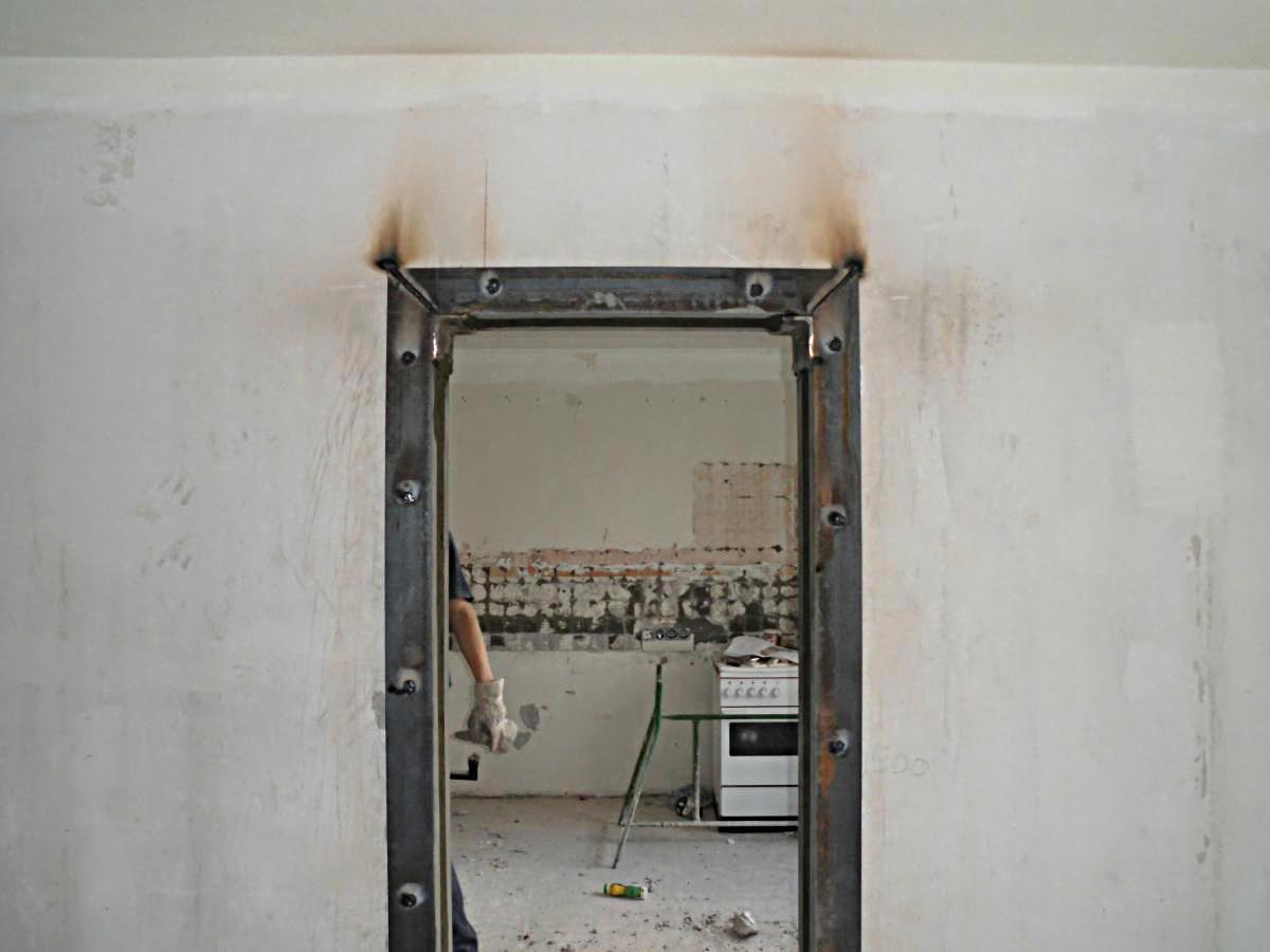 Как сделать дверной проем в бетонной стене 17