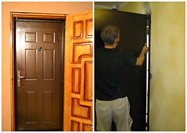 Установка второй входной двери