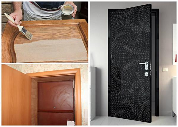 Разновидности декорирования дверного полотна