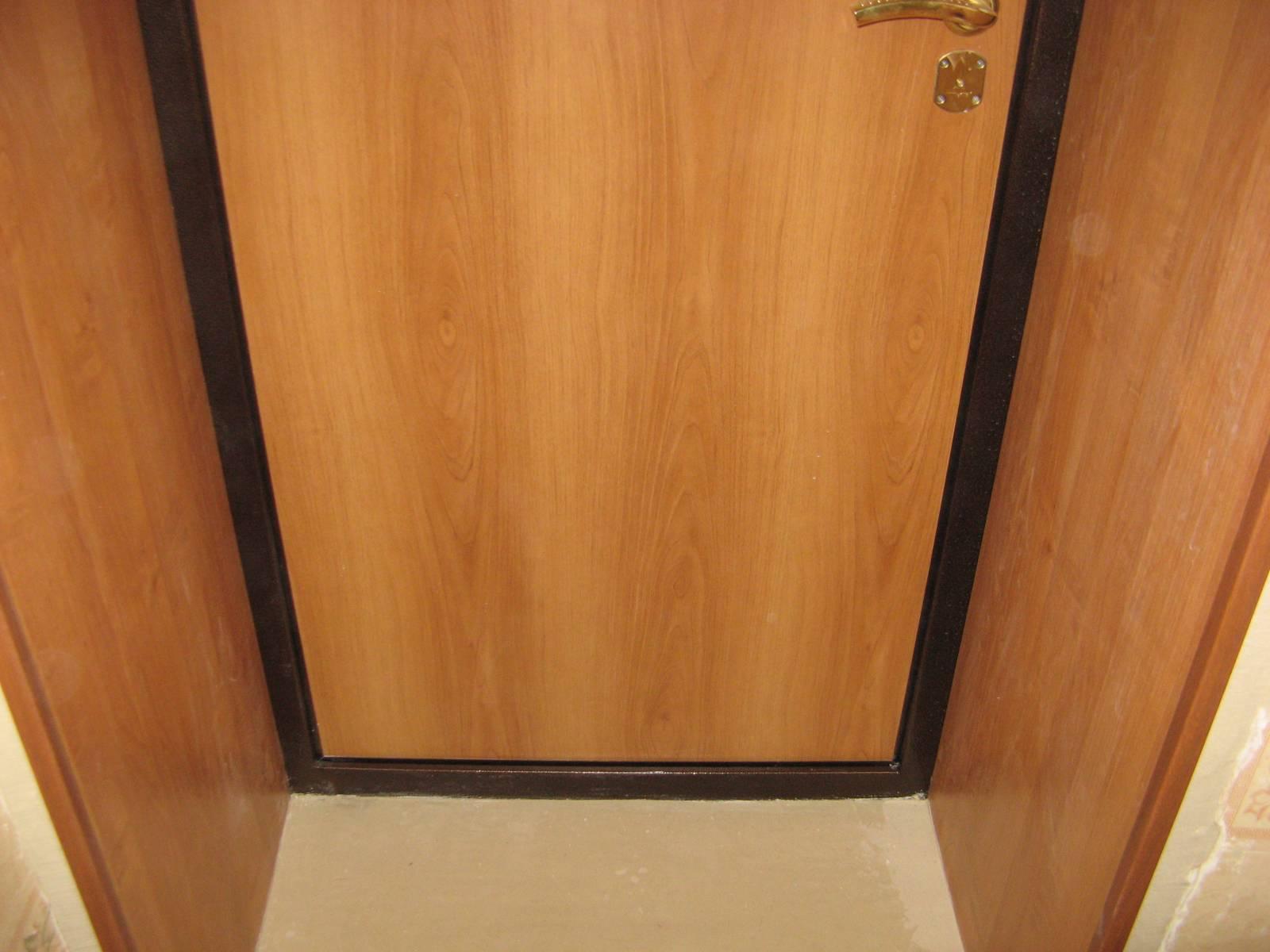 Сделать откос входной двери своими руками видео