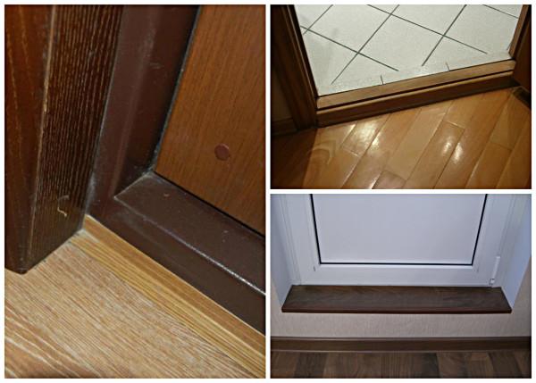 Варианты установки дверного порожка