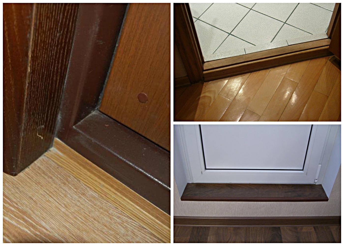 Как сделать порожек двери