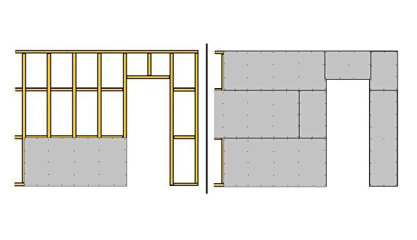 Схема установки профилей для дверного проема