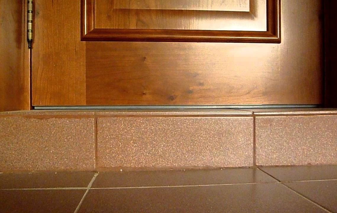 Как сделать порог для двери входной