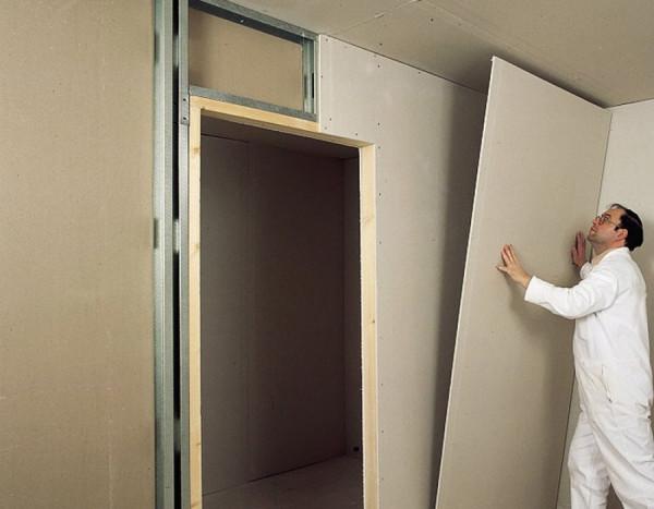 Укрепление дверного проема в гипсокартонной конструкции