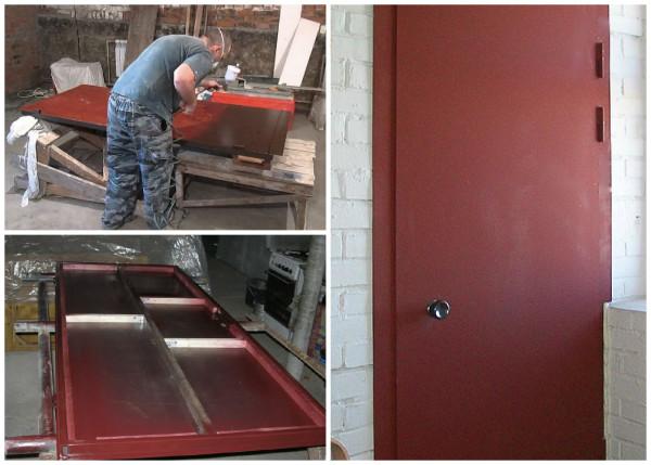Покраска металлической двери