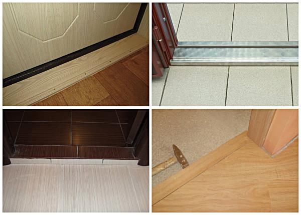 Разновидности дверных порогов