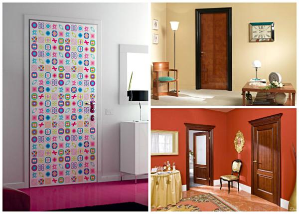 Варианты декора двери