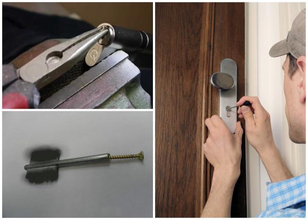 Извлечение обломка ключа из замка