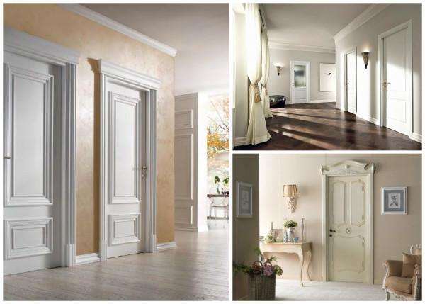 Светлые двери в классическом интерьере