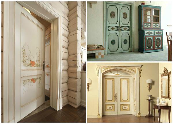 Варианты декора светлого дверного полотна