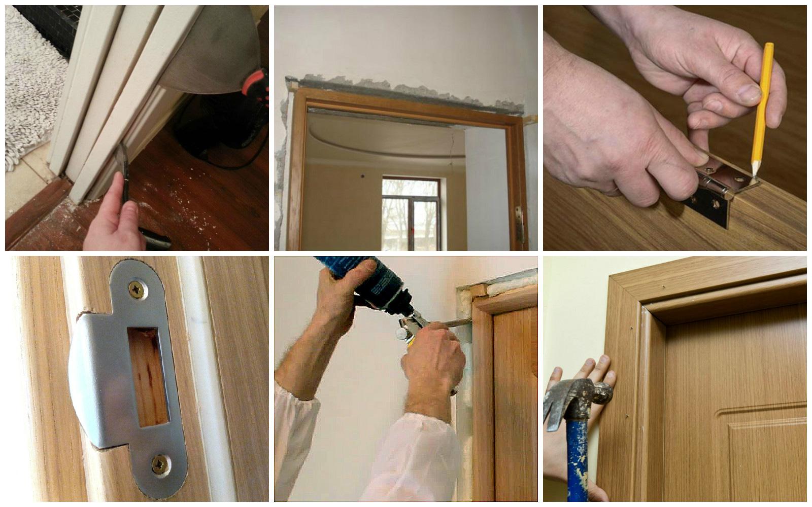 Отделать межкомнатную дверь своими руками