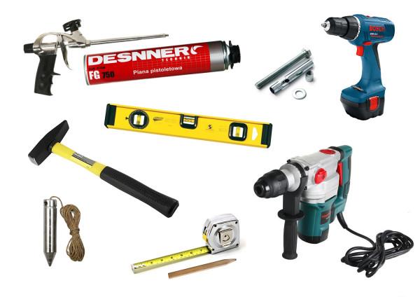 Инструменты для монтажа металлической двери
