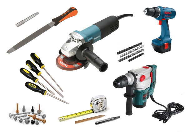 Набор инструментов для установки замка
