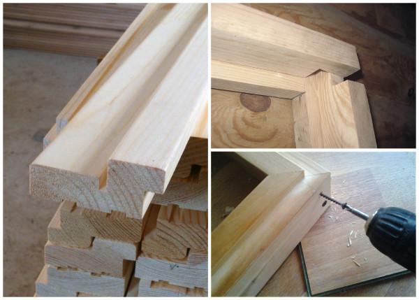 Изготовление дверного короба из готовых деталей